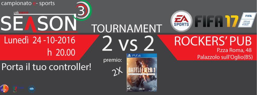 SeasonThree - FIFA Tournament 2017 - Torneo 2vs2 - FIFA17 (PS4)
