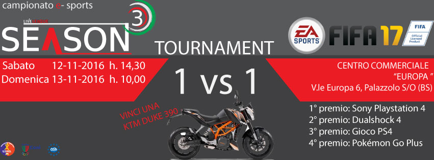 SeasonThree - FIFA Tournament 2017 - Torneo 1vs1 - FIFA17 (PS4)