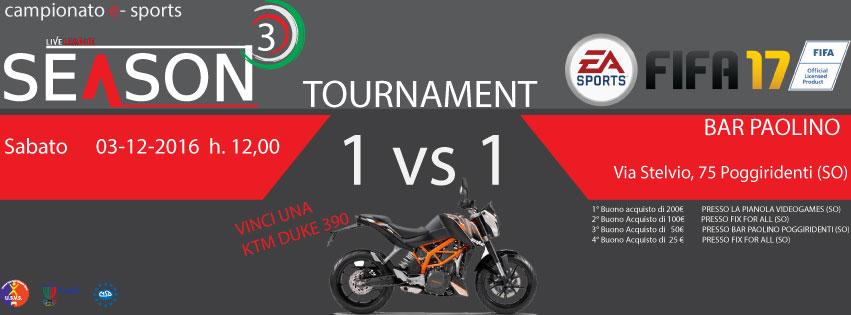 SeasonThree - FIFA Tournament 2016 - Torneo 1vs1 - FIFA16 (PS4)