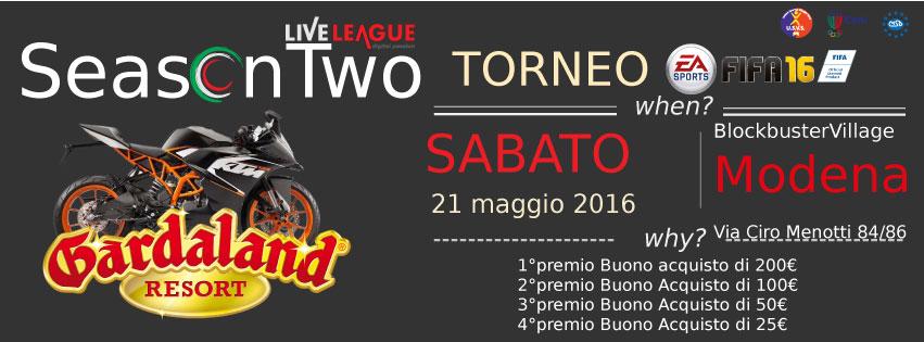 SeasonTwo - FIFA Tournament 2016 - Torneo 1vs1 (PS4)