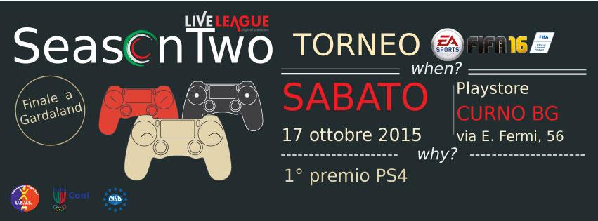 SeasonTwo<br /> FIFA Tournament 2016 - Torneo 1vs1 - FIFA16 (PS4)