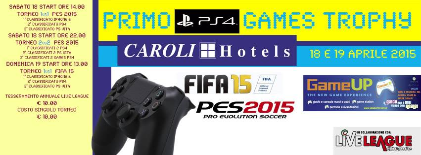 PS4 GAMES TROPHY - TORNEO 1vs1 – PES 2015 (PS4)
