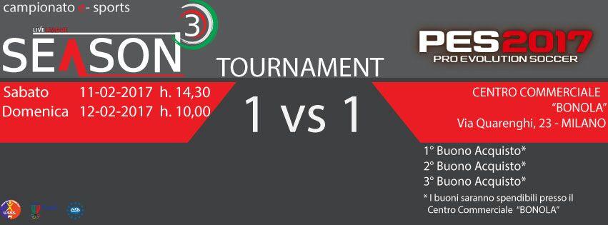 SeasonThree - PES Tournament 2017 – TORNEO 1vs1 di PES 2017 (PS4)